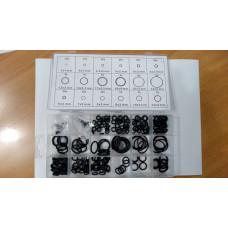 Набор черных уплотнительных колец 225 шт.